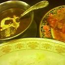 仔牛のミルクカレー&トマトサラダ