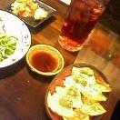 餃子&赤玉パンチソーダ