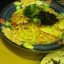筍とベーコンのペペロンチーノ