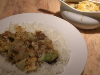 チキン野菜エッグcurry@炒伽哩