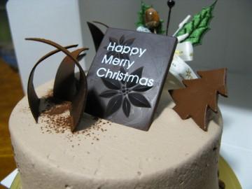 クリスマスケーキ(チョコ)