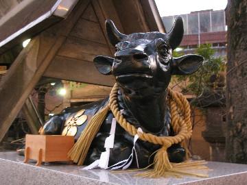 なで牛@北野神社