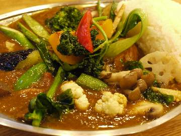 野菜&チキンカレー@カレーの店 プーさん